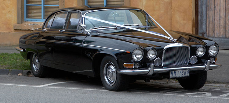 Black Jaguar MK10 Sedan