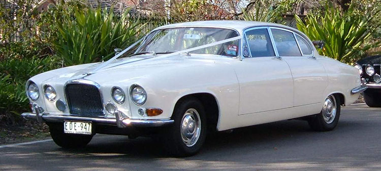 White Jaguar MK10 Sedan